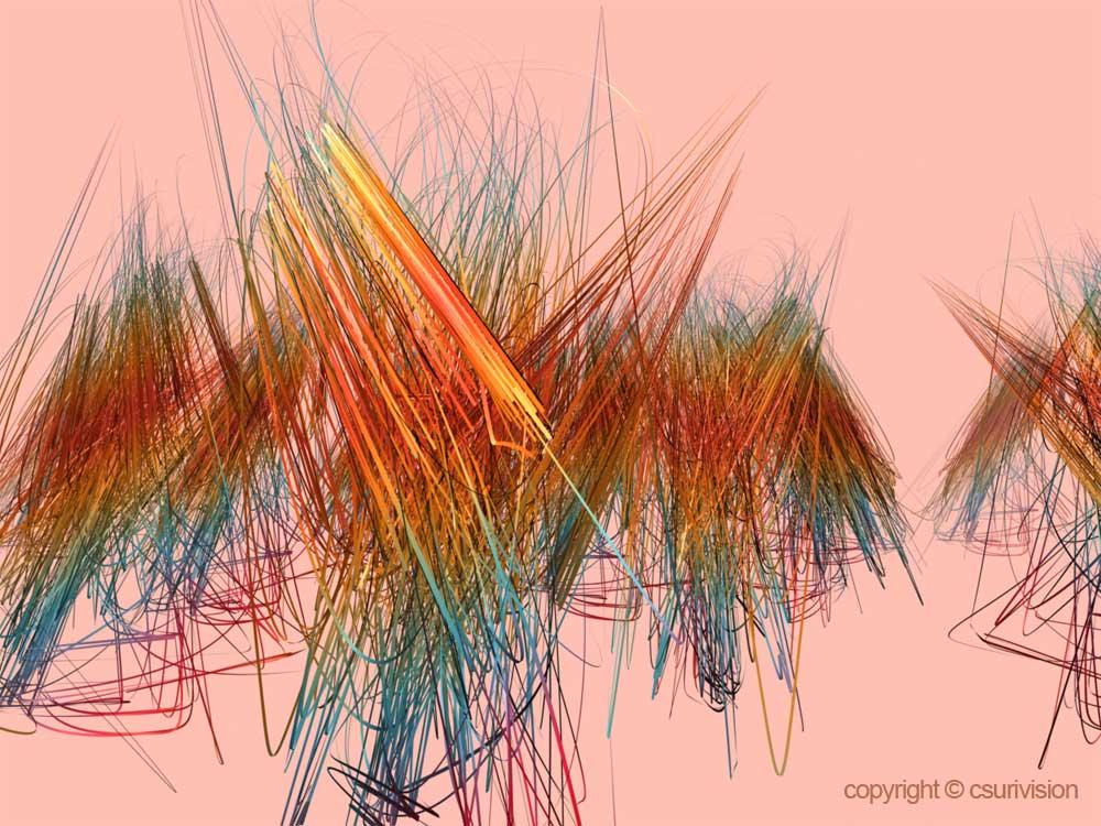 Digital Computer Art : Csurivision scribbles
